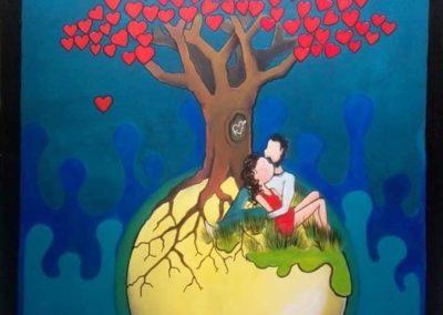 Armande sous l'arbre