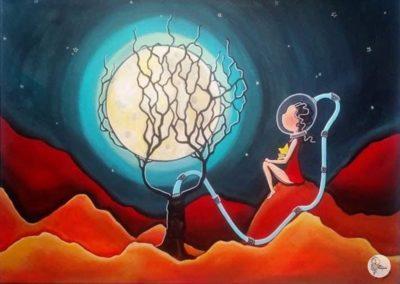 Lune en bulle